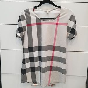 Burberry check T-shirt